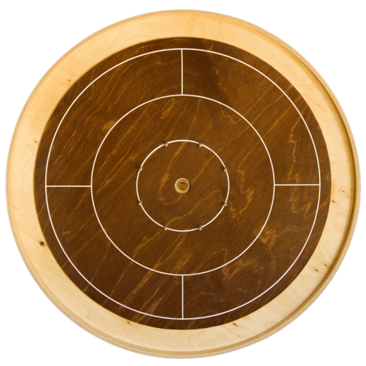 Crokinole walnut mini board (62 cm)